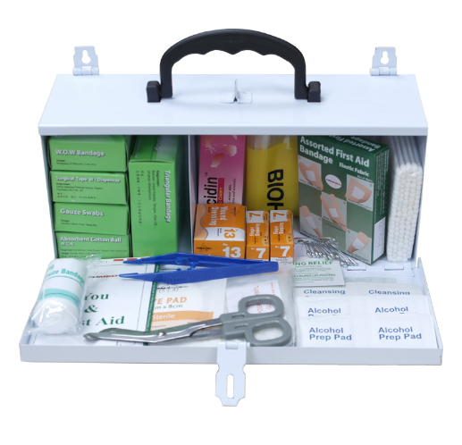 First Aid Kit with Metal Casing PM-01-MM Content