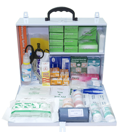First Aid Kit with Metal Extra Large Casing PM-03-MXL Content