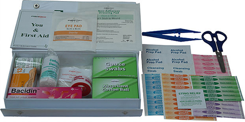 First Aid Kit with PVC Small Casing PM-03-PS Content