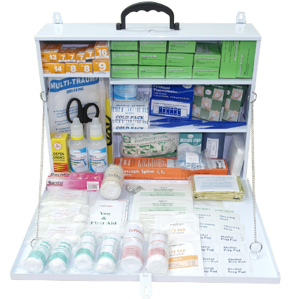 First Aid Kit with Metal Jumbo Casing PM-04-MJ Content