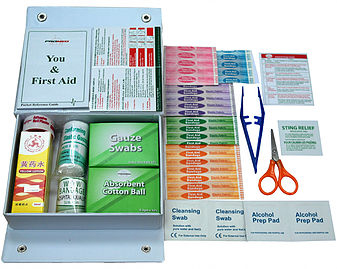 First Aid Kit with PVC Premium Casing PM-02-PP Content