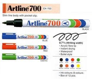 Artline 700 Marker Black