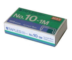 Max No.10-1M Staples 20 boxes
