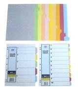 CBE A4 10 Colour Index Divider 907-10 (Paper) x 5 sets