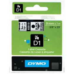 DYMO D1 Tape 9mm x 7m Black on Clear - SMOP40910