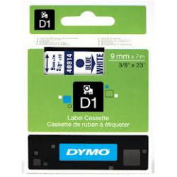 DYMO D1 Tape 9mm x 7m Black on Blue - SMOP40916