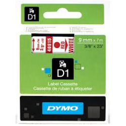 DYMO D1 Tape 9mm x 7m Black on Red - SMOP40917