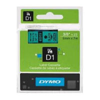 DYMO D1 Tape 9mm x 7m Black on Green - SMOP40919