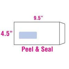 "White Window Envelope 4.5""x9.5"" - 500's"