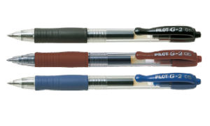 Pilot G2 Gel Pen - 1.0mm (Black/ Blue/ Red)