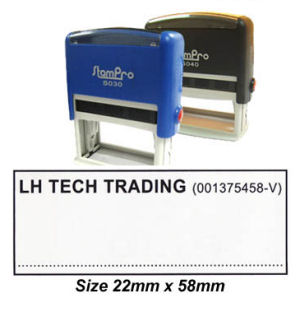 Self-Inking Stamp 040 22 x 58mm Custom made