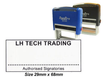 Self-Inking Stamp 050 29 x 68mm Custom made
