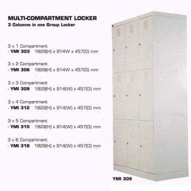 YMI 309 Multi-Compartment Locker 3x3