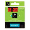 DYMO D1 Tape 12mm x 7m Black on Red - SMOP45017