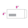"White Window Envelope 4""x9"" - 25's (Peel & Seal)"