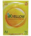 IK Yellow A4 Paper 70gsm - 450 sheets